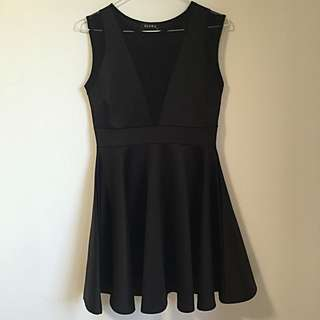 Club L (ASOS) Mesh Insert Skater Dress
