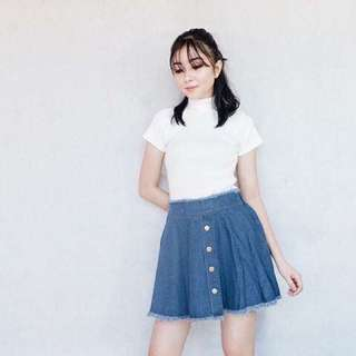 Denim Skirt Dark