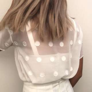 Dotted See Through Top