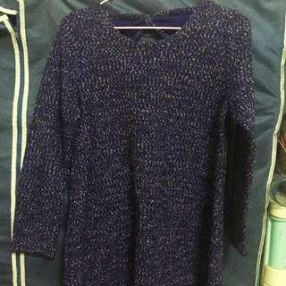 正韓藍紫色毛衣