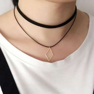 Minimalist Layered Choker - Diamond