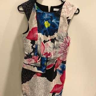 Talulah Peplum Floral Dress