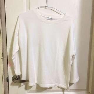 白色 百搭 寬鬆 上衣