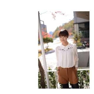 *轉賣*CherryKoko韓國官網購入 焦糖咖厚料短褲 M號