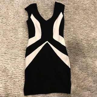 Fresh Soul Black And White Dress.