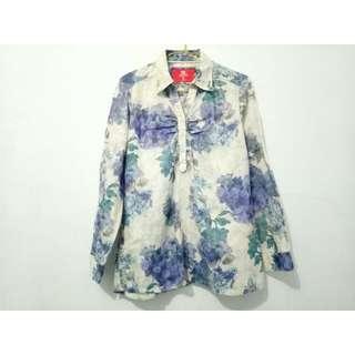 Hassenda Floral Blue Blouse