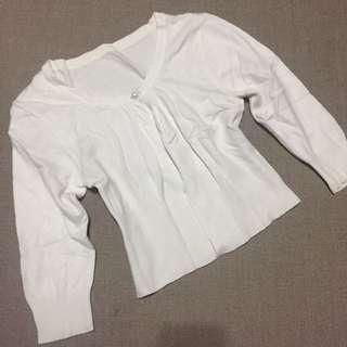 White Mini Cardigan