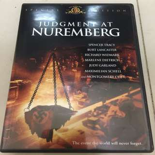 Judgment at Nuremberg 紐倫堡大審判 DVD 區碼:1