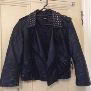Asia Faux Leather Biker Jacket