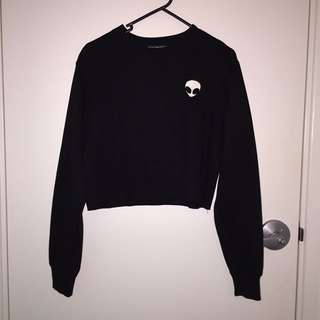 Black Alien logo cropped Jumper