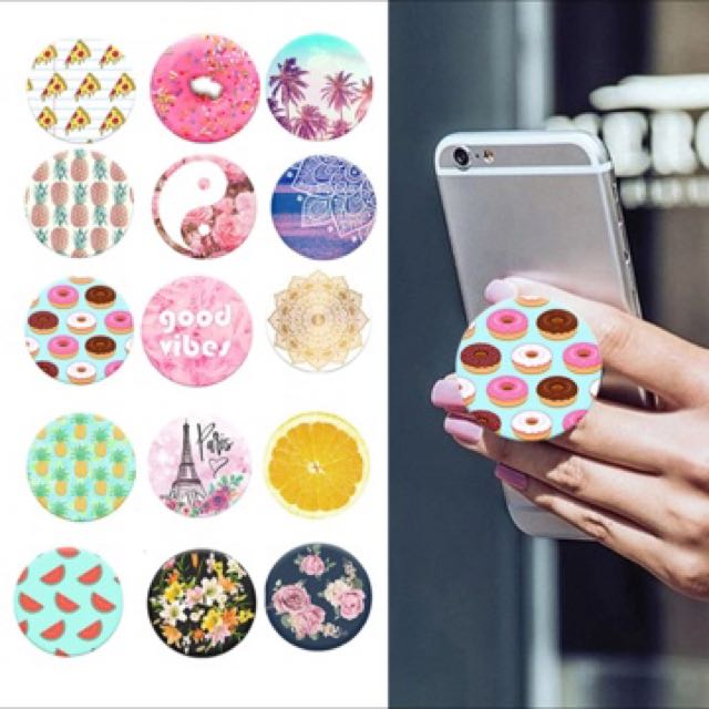 2017 New Fashion POP Finger Holder with Anti-fall Phone Smartphone Desk stand Grip Socket Mount For Apple POP SOCKET