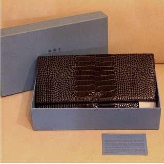 全新英國皮革旅行銀包 Smythson Gorgeous Brown Leather Travel Wallet