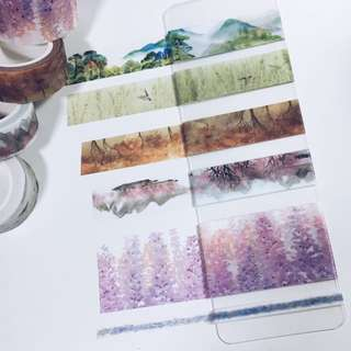 Repacked Washi Tape -- Scenery