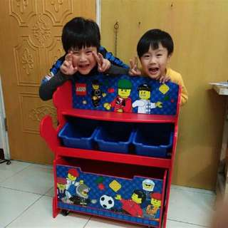 LEGO樂高原廠實木三層收納櫃 台灣買不到