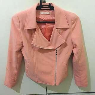 Salmon Pink Blazer From GTW Fab