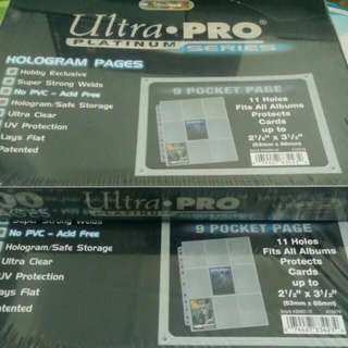 (RESTOCKED) Card Pages ( Ultra Pro..)