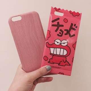 Iphone 手機殼 殼 餅乾殼 木紋殼