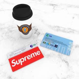 (UPDATED) Customizable Supreme Metrocard Design Ezlink Card Sticker
