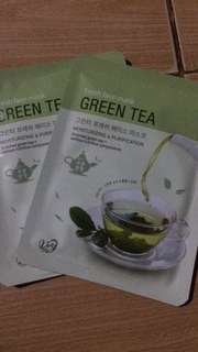 green tea facial mask from korea😘