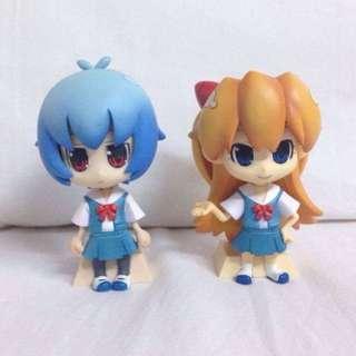 FINAL SALE! ANIME: Evangelion - Asuka & Rei Chibi Nendoroid Figure!