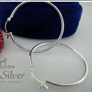 925 Sterling Silver Big Loop Earrings