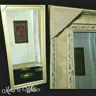Victorian White Mirror Instock Nw