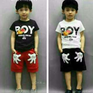 mickey mouse kids terno