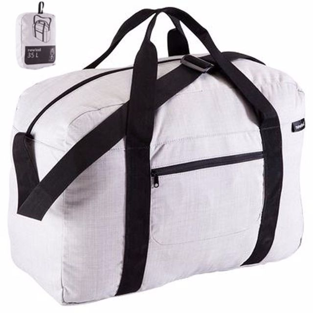 35L Folding Duffel Bag - Grey