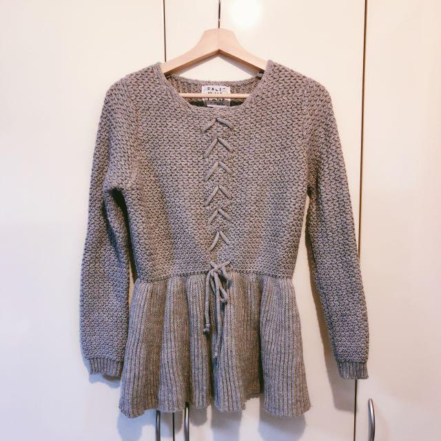 韓國購回 女孩👧針織裙擺上衣