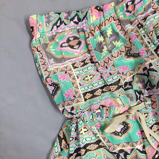 波西米亞圖騰連身長裙