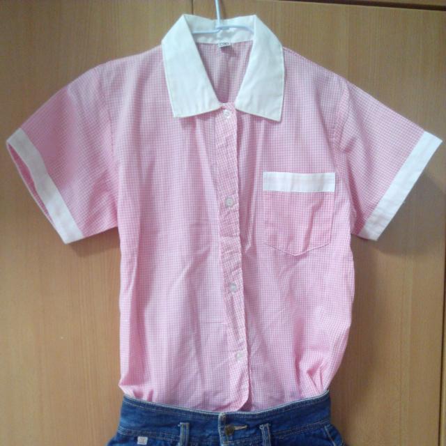 【二手】粉色格子襯衫
