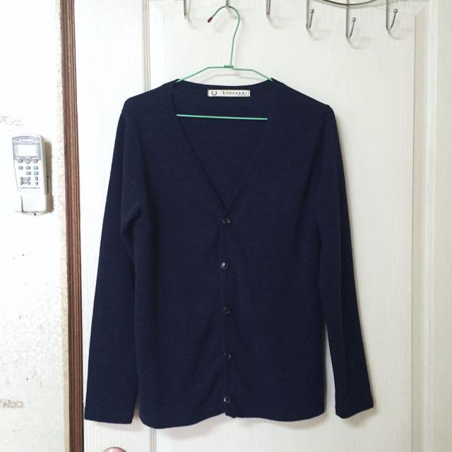 針織衫 深藍