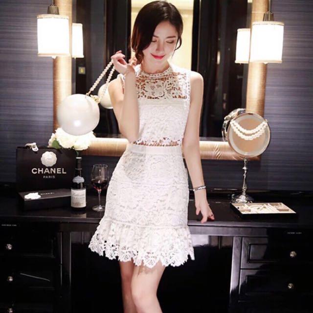 韓國正韓蕾絲鏤空派對洋裝 性感洋裝