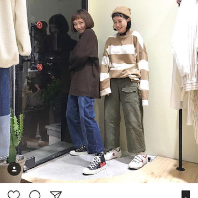 售 OPPO 東區 軍綠寬褲