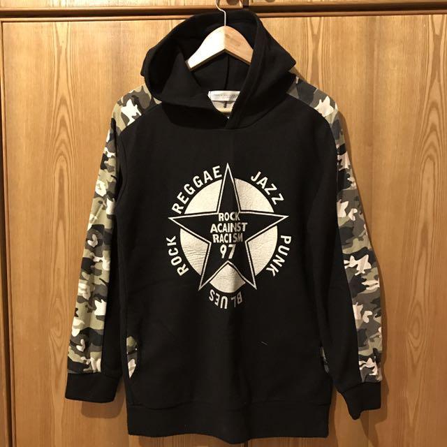 東京著衣 數字膠印迷彩黑色帽T #你喜歡我送你 #免購物直接送