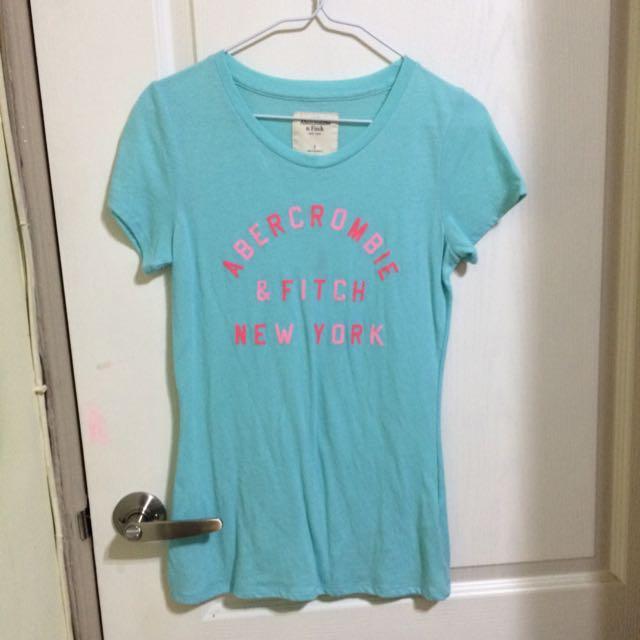 a&f tshirt 長版 s號