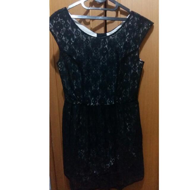 Atmosphere Black Lace Dress Size M
