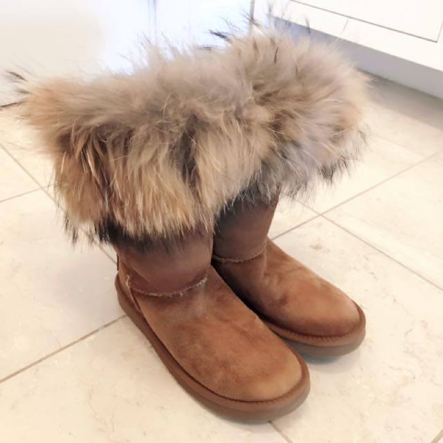 Australia Luxe  Chestnut High Boot with fur