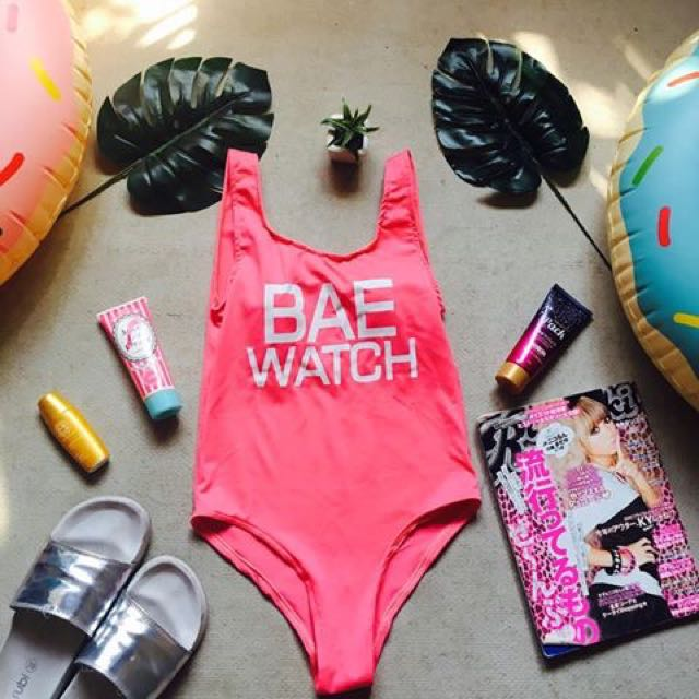 Bae Watch (neon pink)