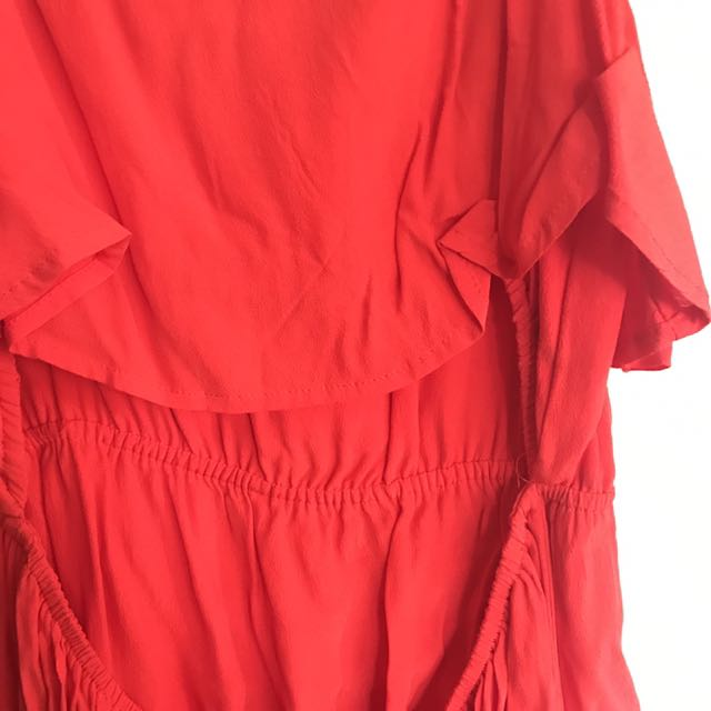 Bardot Red Dress