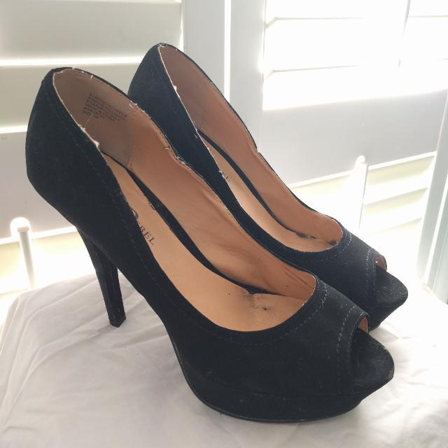 Black London Rebel Heels