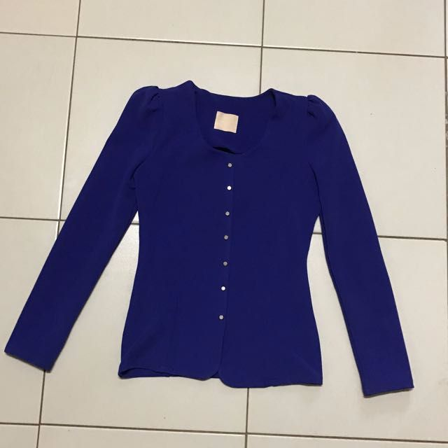 Blue Blazer Stretchable
