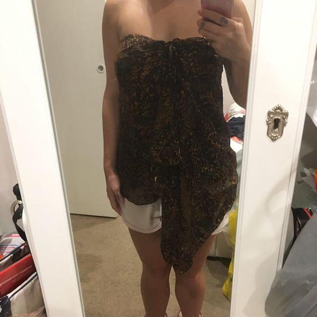 Boob Tube Leopard Print Top