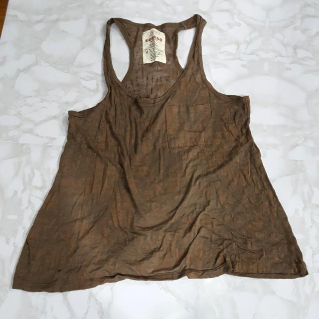 Brown Tank Top - Medium | Zenana Outfitters