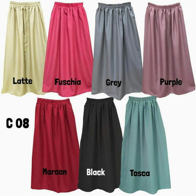 C08 Basic Plain Skirt