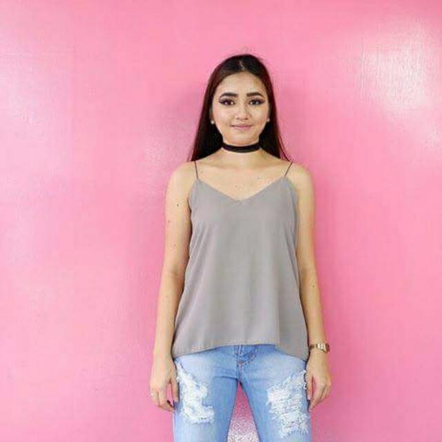 Cami Top Gray