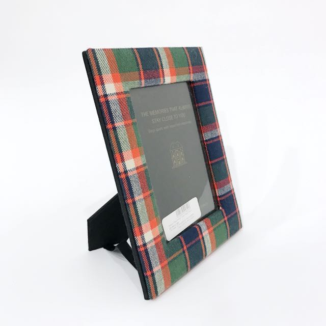Checked Fabric Photo Frame