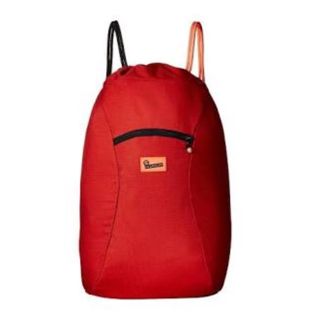 Crumpled SQUID Drawstring Backpack (Red)