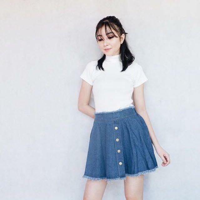 Denim Skirt Dark