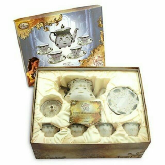 【美國代購】迪士尼disney 美女與野獸 真人版電影 茶褓太太 茶壺媽媽 阿齊茶杯 陶瓷 杯盤組